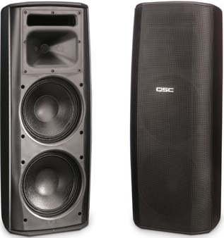 """QSC AD-S282HT-BLACK AcousticDesign Dual 8"""" 2-Way Speaker System with Transformer Taps AD-S282HT-BLACK"""