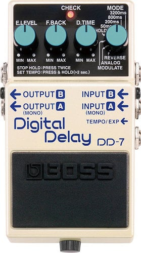 Boss DD7 Digital Delay Guitar Pedal, Stereo Output DD7-BOSS