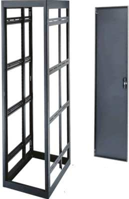 "Middle Atlantic Products MRK-4431-AV-AB  44-Space, 77"" H x 26"" D Tall Welded Gangable Equipment Rack (A/V Configuration, without Side Panels) MRK-4431-AV-AB"