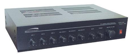 Speco Technologies PMM120A 120 Watt, 4/8 Ohm & 70V Public Address Mixer/Amp PMM120A