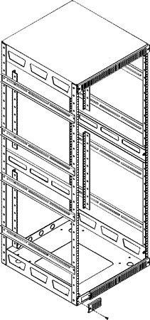 "Middle Atlantic Products 5AR43 Adjustable ""Split"" Rear Rack Rails Kit 5AR-43"
