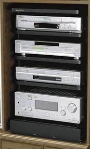 Middle Atlantic Products ASR-30 Slide-Out/Rotating Shelving System (4 Shelves) ASR-30
