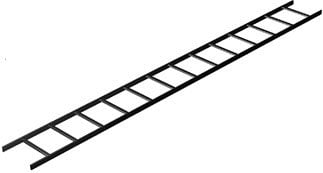 Middle Atlantic Products CLB10-12 10' Long Ladder Runway, Black (12 Pieces) CLB10-12