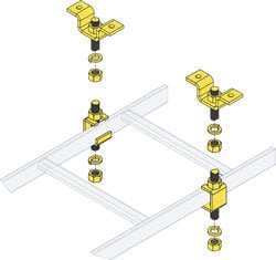 """Middle Atlantic Products CLH-5/8CHK Slotted 5/8"""" Ladder Support Hardware (1 Pair, with Ceiling Hang Kit) CLH-5/8CHK"""