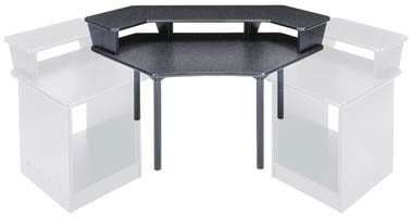 Middle Atlantic Products MDV-CNR3 Corner Desk with 2-Piece Overbridge MDV-CNR3