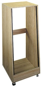 Middle Atlantic Products OSR16 16-Space Slanted Oak Rack Enclosure with Casters OSR16