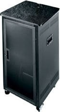 Middle Atlantic Products PTRK-21MDK 21-Space Portable Rack (with Plexi Front Door, Laminate Top, Casters) PTRK-21MDK