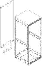 Middle Atlantic Products RAP-8 8-Space Rear Access Panel for Model 5-8 Slim-5 Rack RAP-8