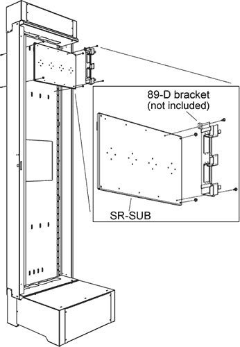 Middle Atlantic Products SR-SUB Sub Plate Mounting Kit (for SR Series Pivoting Racks) SR-SUB