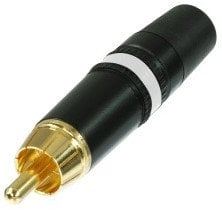 Neutrik NYS373-9 REAN Gold RCA Plug with White Color Coding Ring NYS373-WT
