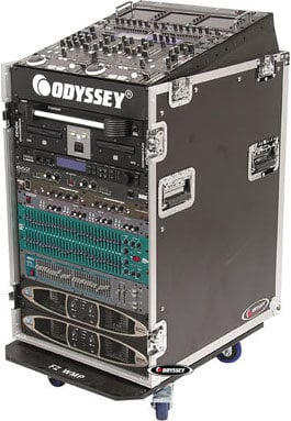 Odyssey FZ1316W 13-Space Slanted, 16-Space Vertical ATA Combo Rack (with Wheels) FZ1316W