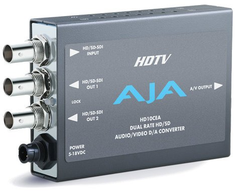 AJA HD10CEA SD/HD-SDI to Analog Audio/Video Mini Converter with Power Supply HD10CEA