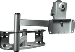 """Peerless PLA50-S Articulating Wall Arm (for 32""""-50"""" Screens, No Adapter Plate, Silver) PLA50-S"""