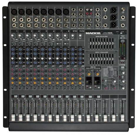 Mackie PPM1012 12-Channel 1600W Desktop Mixer PPM1012