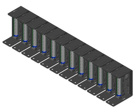 "Radio Design Labs SR-12A STICK-ON Series 19""W Mounting Rack for up to12 Modules SR12A"