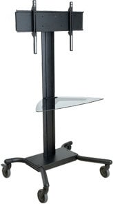"Peerless SR560G  Universal Cart for 32-60"" Flatscreens (with Glass Shelf) SR560G"