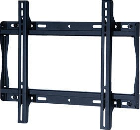 "Peerless SF640P Flat Wall Mount for Medium 23"" - 46"" LCD Screens, Black (silver shown) SF640P"