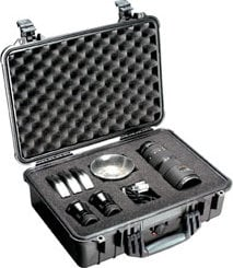 Pelican Cases 1500 Medium Silver Case with Foam Interior PC1500-SILVER