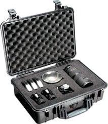 Pelican Cases PC1500-SILVER Medium Silver Case with Foam Interior PC1500-SILVER