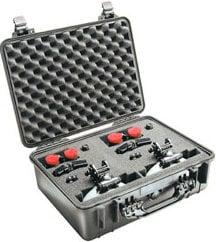 Pelican Cases PC1526-BLACK Medium Black Case with Additional Convertible Travel Bag PC1526-BLACK