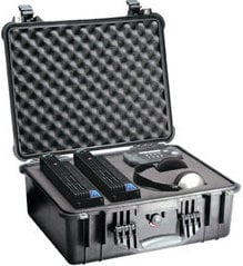 Pelican Cases PC1554-BLACK Medium Black Case with Padded Dividers PC1554-BLACK