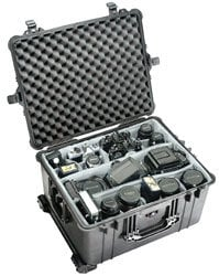 Pelican Cases PC1624-BLACK Large Black Case with Padded Dividers PC1624-BLACK