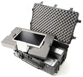 Pelican Cases PC1654 Large 1650 Case with Padded Divider Set & Wheels PC1654