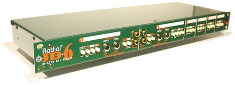 Radial Engineering JD6 6-Channel Passive Rackmount DI JD6