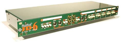 Radial Engineering JD6 6-Channel Passive Rackmount DI JD6