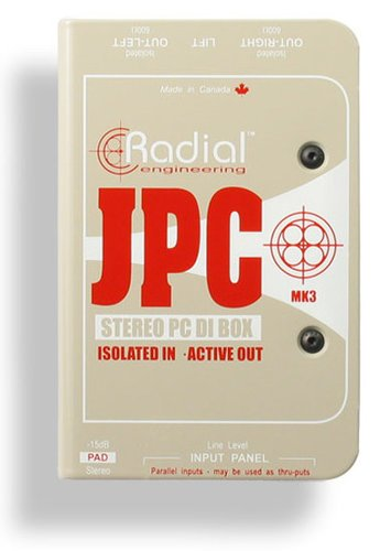 Radial Engineering JPC Active Stereo PC-AV Direct Box JPC