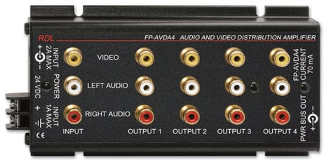 RDL FP-AVDA4 Audio/Video Distribution Amplifier FP-AVDA4