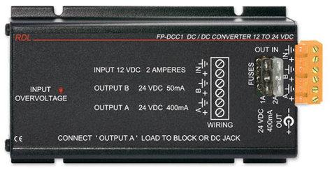 RDL FP-DCC1 DC/DC converter, 12v to 24v FP-DCC1