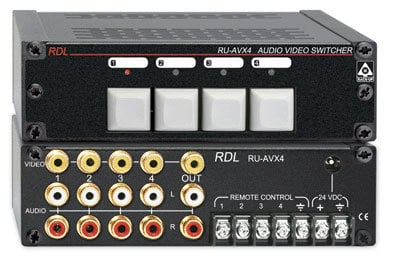 Radio Design Labs RU-AVX4 4-Input Audio/Video Switcher RUAVX4