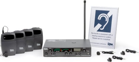 Listen Technologies LP-3CV-072 3-Channel 72 MHz Assitive Listening Package with 4 Receivers VALUE-PACK