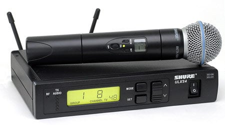 Shure ULXS24/BETA58-G3 Wireless Handheld Microphone System with Beta58 Capsule ULXS24/BETA58-G3