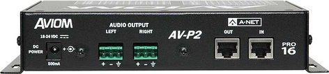 Aviom AV-P2 2 Channel Line Level Output Module for Pro16 A-Net AV-P2