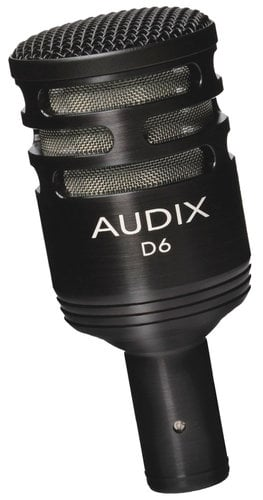 Audix D6 Large-Element Dynamic Instrument Microphone D6-AUDIX