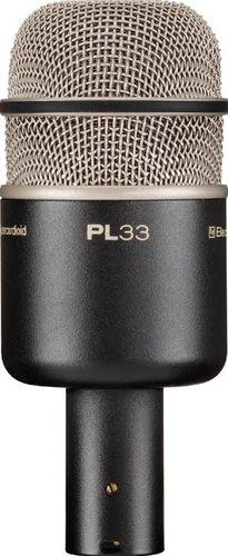 Electro-Voice PL33 Dynamic Kick Drum Microphone, Supercardioid PL33