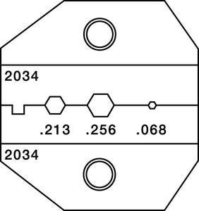 Paladin Tools 2034  Crimp Die 1300 Series Tool  2034