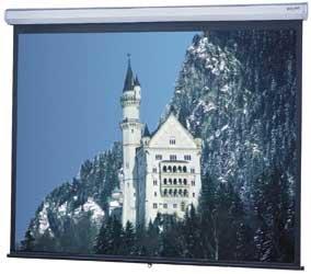 Da-Lite 40253 8' x 8' Floor Model C® Matte White Screen 40253