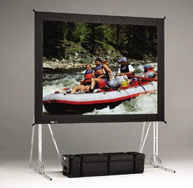 Da-Lite 84863 9' x 12' Fast-Fold® Truss Frame Dual Vision Projection Screen 84863