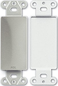 RDL DS-BLANK Wall Plate, D Style, No Cut Out DS-BLANK