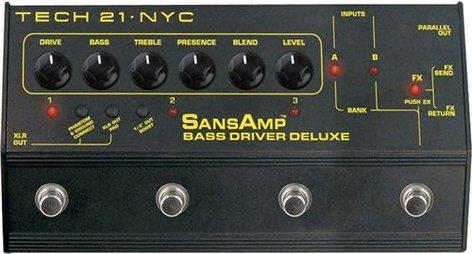 Tech 21 BSDR-DLX-SANSAMP BSDR-DLX SansAmp Bass Driver Deluxe Bass Preamplifier with 6 Presets BSDR-DLX-SANSAMP