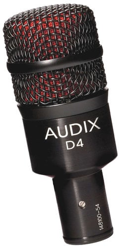 Audix D4 Dynamic Instrument Microphone - Low Frequency Instruments D4-AUDIX