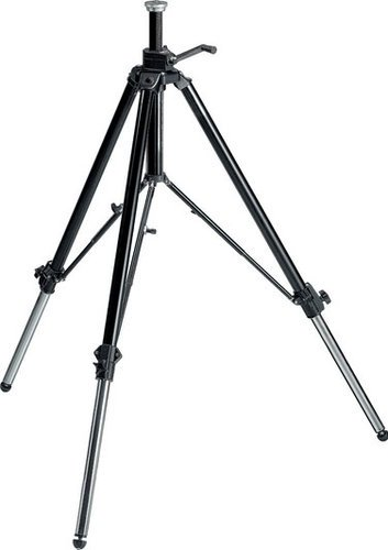 Manfrotto 117B Video Tripod, Geared with Rubber Feet, Retractable Metal Spikes 117B