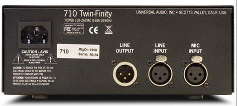 Universal Audio 710-TWIN-FINITY Mic Pre/DI Single CH Tube 710-TWIN-FINITY