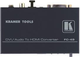 Kramer FC49  DVI & Audio to HDMI Format Converter & Audio Embedder FC49