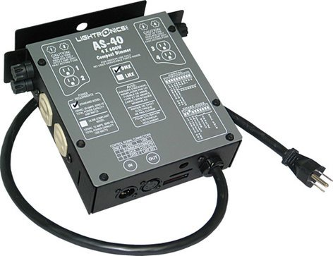 Lightronics Inc. AS40D 4 Channels x 600W Portable Dimmer AS-40D