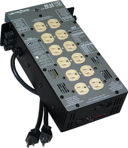 Lightronics Inc. AS62D 6 Channels x 1200W Portable Dimmer AS-62D