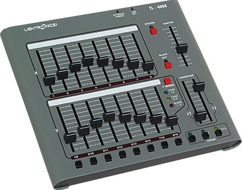 Lightronics Inc. TL4008-DMX01 120V 16 Channel Lighting Console with DMX-512 Output TL-4008-DMX01